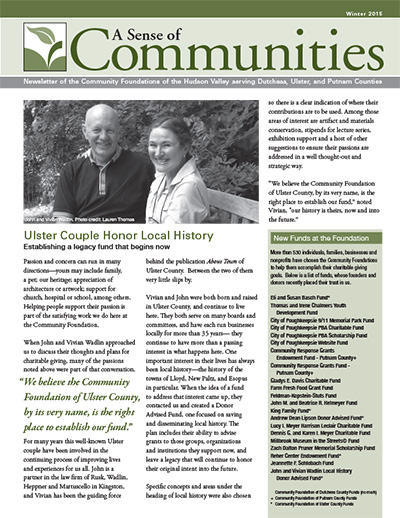 The Community Foundations of the Hudson Valley - News